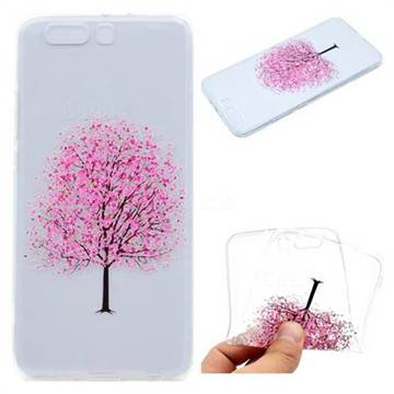Petals Tree Super Clear Soft TPU Back Cover for Huawei P10 Plus