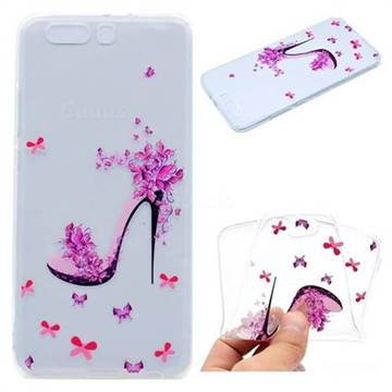 Petal High Heels Super Clear Soft TPU Back Cover for Huawei P10 Plus
