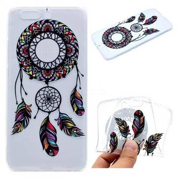 Feather Black Wind Chimes Super Clear Soft TPU Back Cover for Huawei P10 Plus
