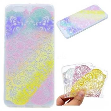 Mandala Rainbow Flower Super Clear Soft TPU Back Cover for Huawei P10 Plus