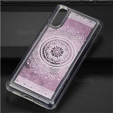 Mandala Glassy Glitter Quicksand Dynamic Liquid Soft Phone Case for Huawei P20