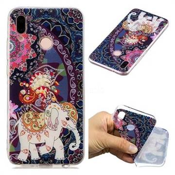 Totem Flower Elephant Super Clear Soft TPU Back Cover for Huawei P20 Lite