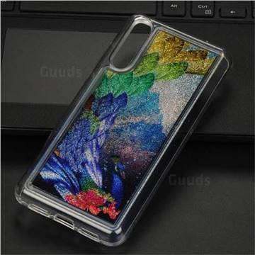 Phoenix Glassy Glitter Quicksand Dynamic Liquid Soft Phone Case for Huawei P20 Pro