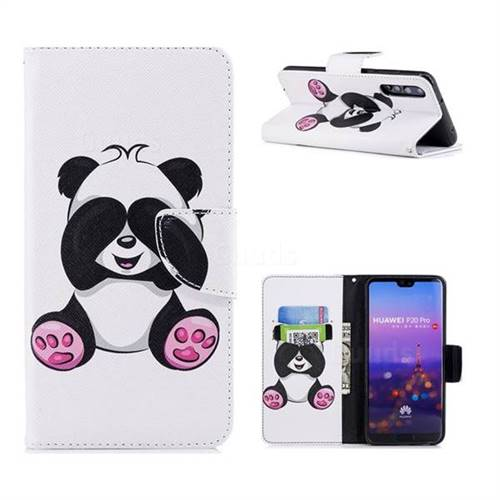 Lovely Panda Leather Wallet Case for Huawei P20 Pro