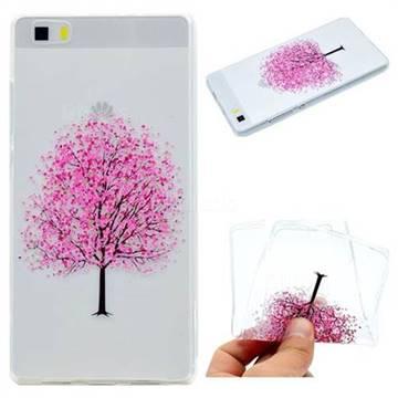 Petals Tree Super Clear Soft TPU Back Cover for Huawei P8 Lite P8lite