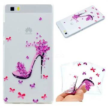 Petal High Heels Super Clear Soft TPU Back Cover for Huawei P8 Lite P8lite