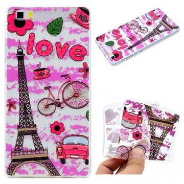 Love Eiffel Tower Super Clear Soft TPU Back Cover for Huawei P8 Lite P8lite