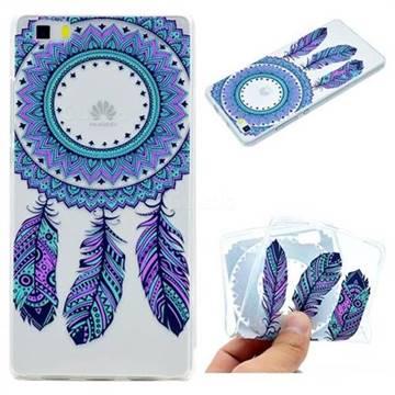 Blue Feather Campanula Super Clear Soft TPU Back Cover for Huawei P8 Lite P8lite