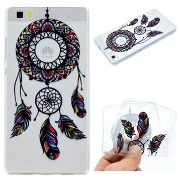Feather Black Wind Chimes Super Clear Soft TPU Back Cover for Huawei P8 Lite P8lite