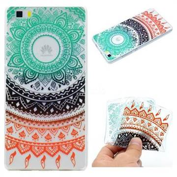 Tribe Flower Super Clear Soft TPU Back Cover for Huawei P8 Lite P8lite