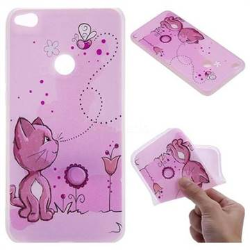 Cat and Bee 3D Relief Matte Soft TPU Back Cover for Huawei P8 Lite 2017 / P9 Honor 8 Nova Lite
