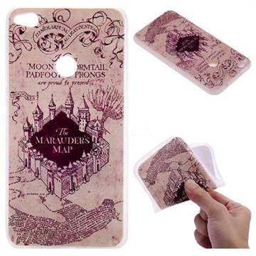 Castle The Marauders Map 3D Relief Matte Soft TPU Back Cover for Huawei P8 Lite 2017 / P9 Honor 8 Nova Lite