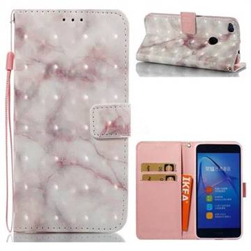 Beige Marble 3D Painted Leather Wallet Case for Huawei P8 Lite 2017 / P9 Honor 8 Nova Lite