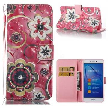 Tulip Flower 3D Painted Leather Wallet Case for Huawei P8 Lite 2017 / P9 Honor 8 Nova Lite