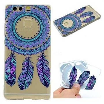 Blue Feather Campanula Super Clear Soft TPU Back Cover for Huawei P9