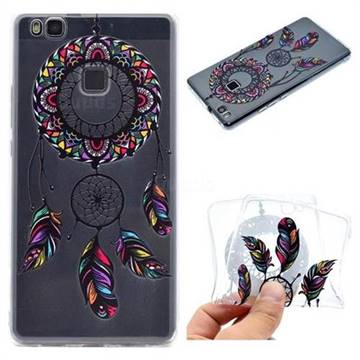 Feather Black Wind Chimes Super Clear Soft TPU Back Cover for Huawei P9 Lite G9 Lite