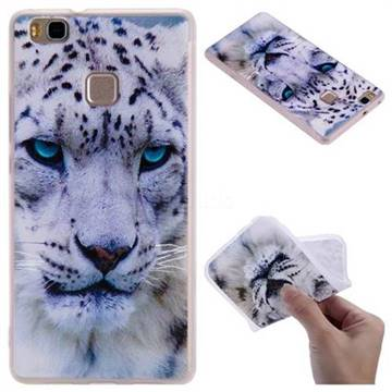 White Leopard 3D Relief Matte Soft TPU Back Cover for Huawei P9 Lite G9 Lite