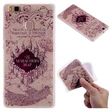 Castle The Marauders Map 3D Relief Matte Soft TPU Back Cover for Huawei P9 Lite G9 Lite