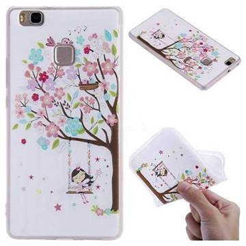 Tree and Girl 3D Relief Matte Soft TPU Back Cover for Huawei P9 Lite G9 Lite
