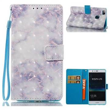 Green Gray Marble 3D Painted Leather Wallet Case for Huawei P9 Lite G9 Lite