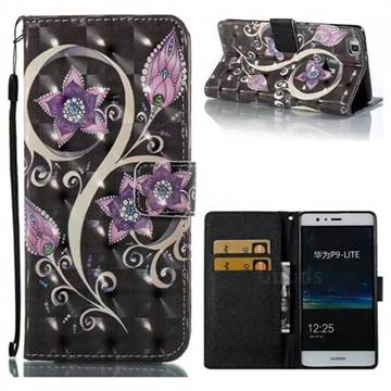 Peacock Flower 3D Painted Leather Wallet Case for Huawei P9 Lite G9 Lite