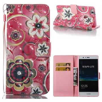 Tulip Flower 3D Painted Leather Wallet Case for Huawei P9 Lite G9 Lite