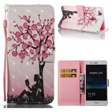 Plum Girl 3D Painted Leather Wallet Case for Huawei P9 Lite G9 Lite