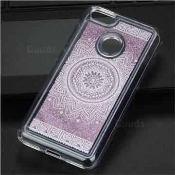 Mandala Glassy Glitter Quicksand Dynamic Liquid Soft Phone Case for Huawei P9 Lite Mini (Y6 Pro 2017)