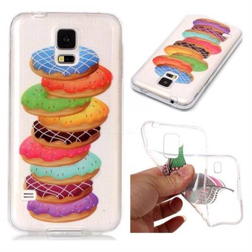 Melaleuca Donuts Super Clear Soft TPU Back Cover for Samsung Galaxy S5 G900