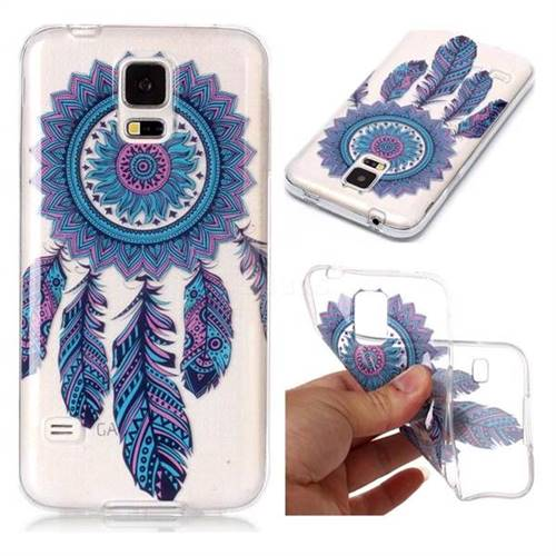 Blue Wind Chimes Super Clear Soft TPU Back Cover for Samsung Galaxy S5 G900