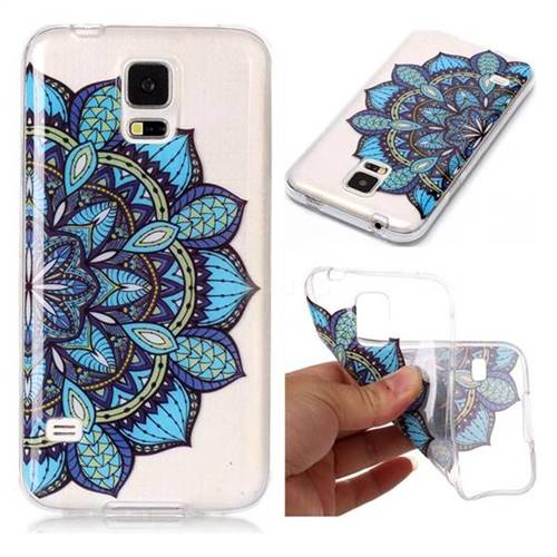 Peacock flower Super Clear Soft TPU Back Cover for Samsung Galaxy S5 G900