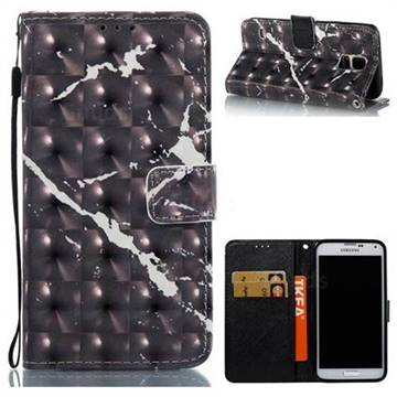 Black Marble 3D Painted Leather Wallet Case for Samsung Galaxy S5 G900