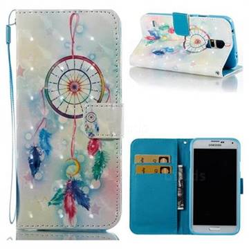 Feather Wind Chimes 3D Painted Leather Wallet Case for Samsung Galaxy S5 G900