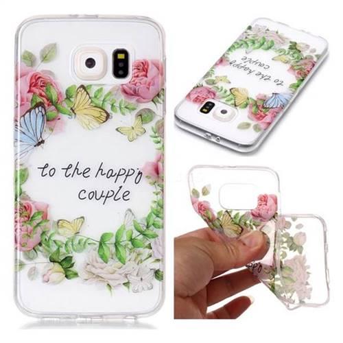 Green Leaf Rose Super Clear Soft TPU Back Cover for Samsung Galaxy S6 G920