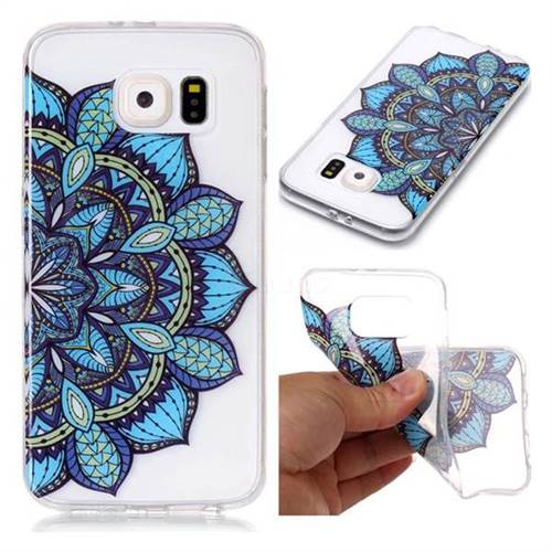 Peacock flower Super Clear Soft TPU Back Cover for Samsung Galaxy S6 G920