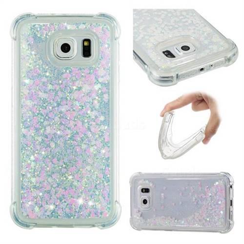 Dynamic Liquid Glitter Sand Quicksand Star TPU Case for Samsung Galaxy S6 G920 - Pink