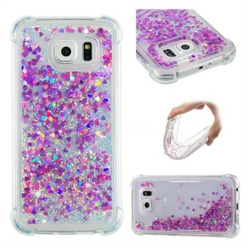 Dynamic Liquid Glitter Sand Quicksand Star TPU Case for Samsung Galaxy S6 G920 - Rose