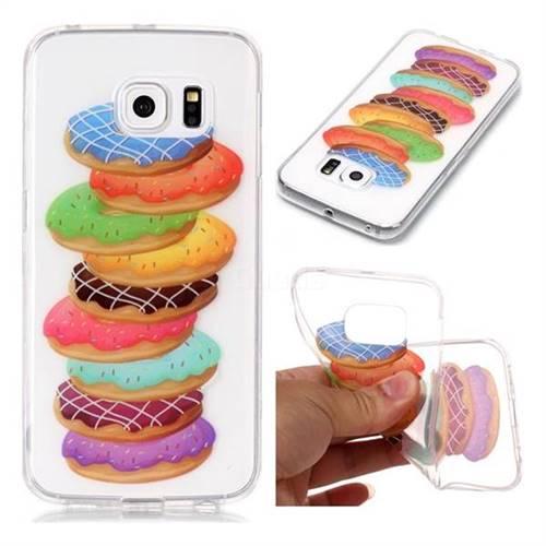 Melaleuca Donuts Super Clear Soft TPU Back Cover for Samsung Galaxy S6 Edge G925