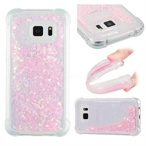 Dynamic Liquid Glitter Sand Quicksand TPU Case for Samsung Galaxy S7 G930 - Silver Powder Star