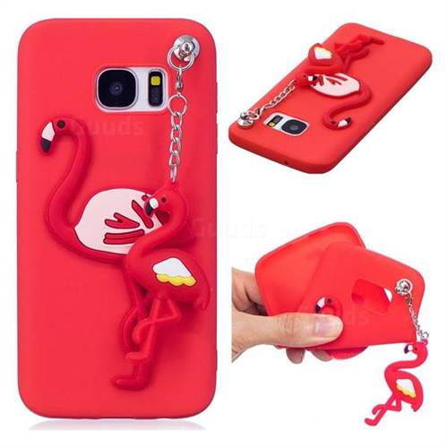 samsung galaxy s7 edge flamingo case