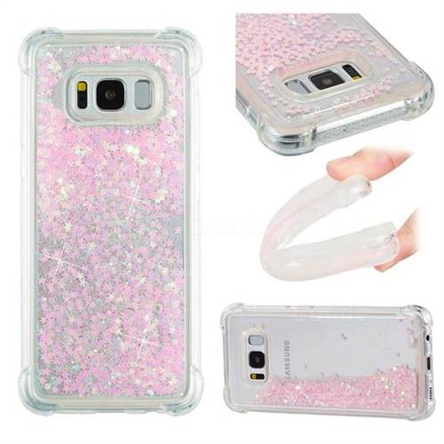 Dynamic Liquid Glitter Sand Quicksand TPU Case for Samsung Galaxy S8 - Silver Powder Star
