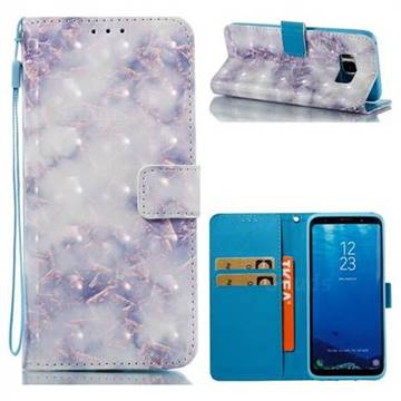 Green Gray Marble 3D Painted Leather Wallet Case for Samsung Galaxy S8