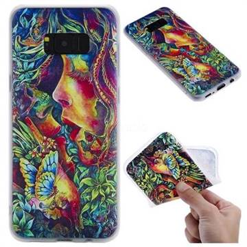 Butterfly Kiss 3D Relief Matte Soft TPU Back Cover for Samsung Galaxy S8 Plus S8+
