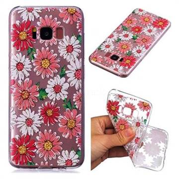 Chrysant Flower Super Clear Soft TPU Back Cover for Samsung Galaxy S8 Plus S8+