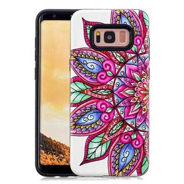 Mandara Flower Pattern 2 in 1 PC + TPU Glossy Embossed Back Cover for Samsung Galaxy S8 Plus S8+
