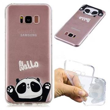 Hello Panda Super Clear Soft TPU Back Cover for Samsung Galaxy S8 Plus S8+