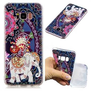 Totem Flower Elephant Super Clear Soft TPU Back Cover for Samsung Galaxy S8 Plus S8+