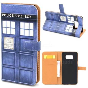 Police Box Leather Wallet Case for Samsung Galaxy S8+ S8 Plus