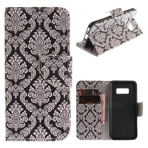 Totem Flowers PU Leather Wallet Case for Samsung Galaxy S8 Plus S8+