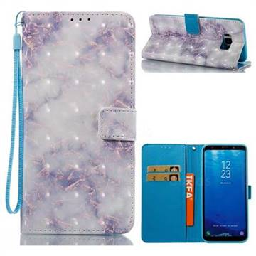 Green Gray Marble 3D Painted Leather Wallet Case for Samsung Galaxy S8 Plus S8+